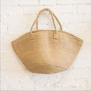 General Store Sisal French Market Bag Tote • NWT